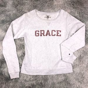 Champion Reverse Weave GRACE Gray Sweatshirt M